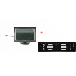 """Camera mers inapoi in suport numar + Monitor 4,3"""" LCD universal de vedere in spate"""
