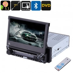 "Media Player 7"" cu touchscreen DVD, MP3, MP4, bluetooth, 1DIN, COD:9505"